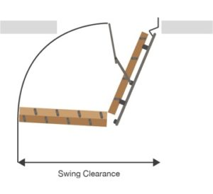 Measure Swing Clearance Diagram