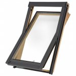 Aurora Centre Pivot Roof Window Pine Finish