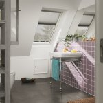 Velux Centre Pivot Polyurethane Roof Window White Finish