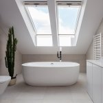 Velux Centre Pivot Roof Window White Painted Finish