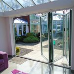 Visofold 1000 Aluminium 3 Sash Bi-Folding Doors - Glazed - 2700 mm