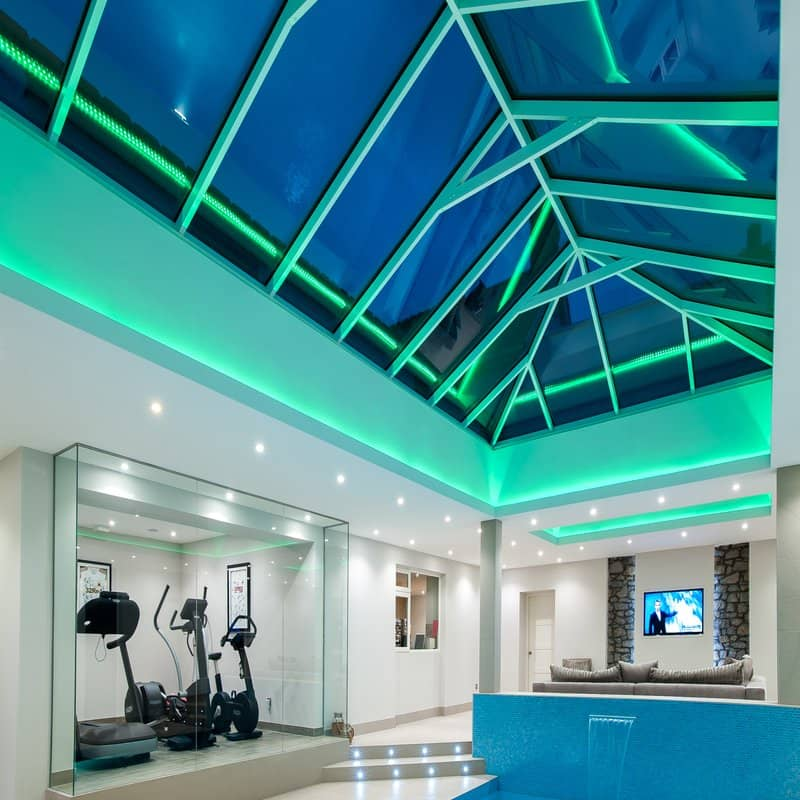 Atlas Regular Slimline Aluminium Roof Lantern Glazed