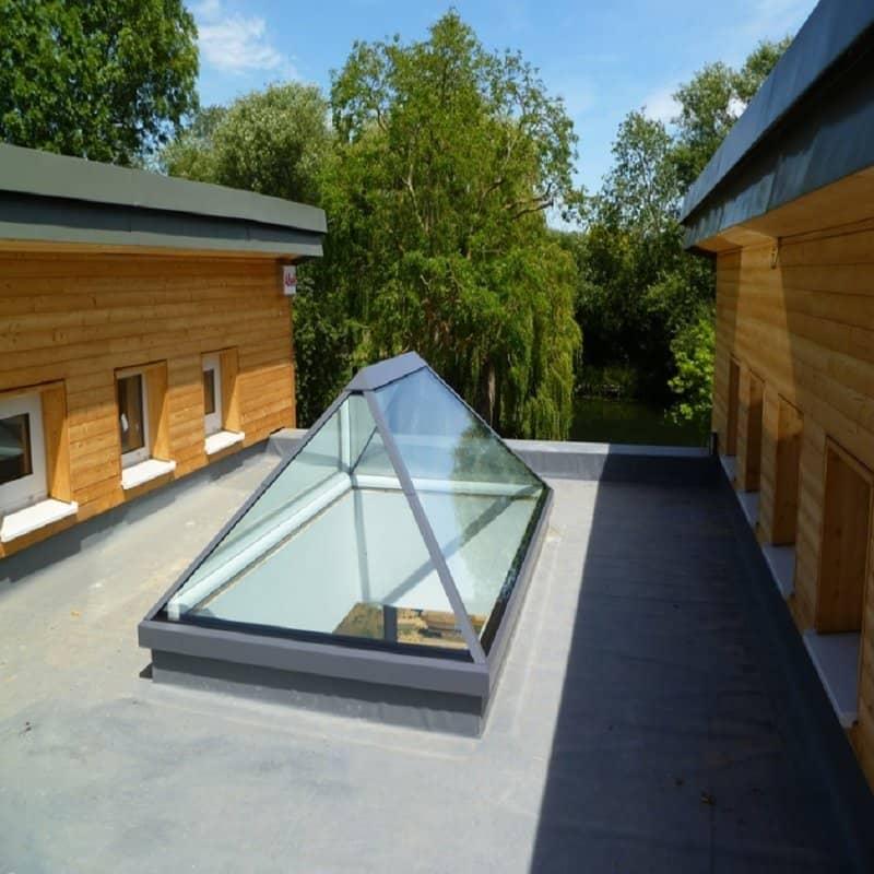 Sunsquare Pyramid Flat Roof Skylight Sps88hssn