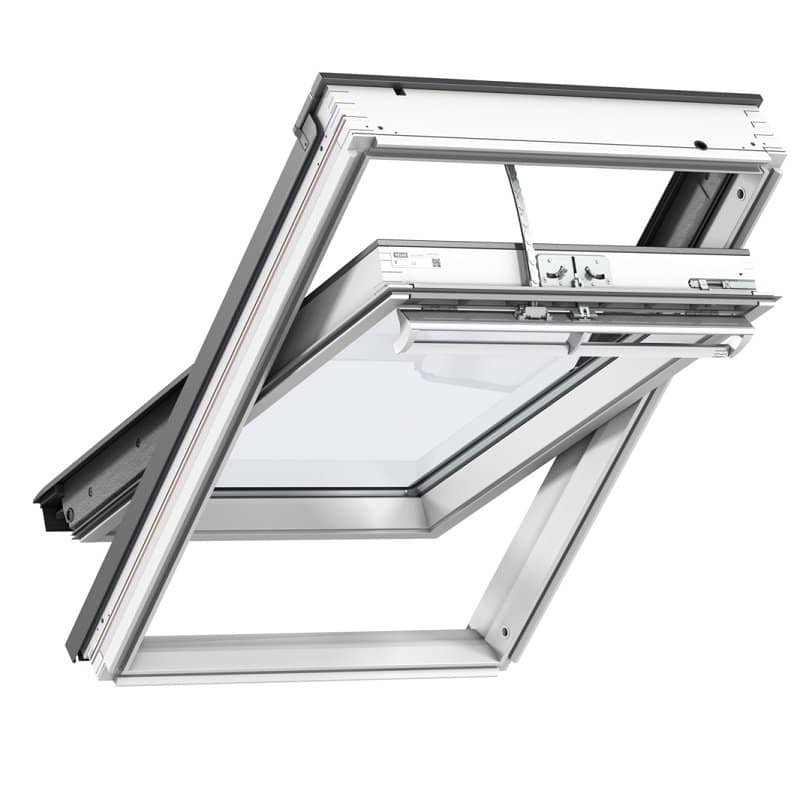Zoom Velux Centre Pivot Integra Electric Powered Roof Window White Painted Finish