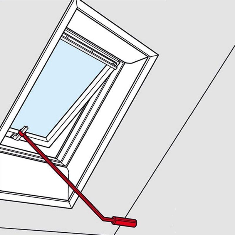 velux control pole for top hung roof windows. Black Bedroom Furniture Sets. Home Design Ideas