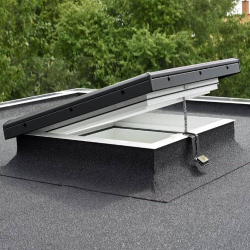Velux electric flat glass roof window cvp060060s06q for Velux glass